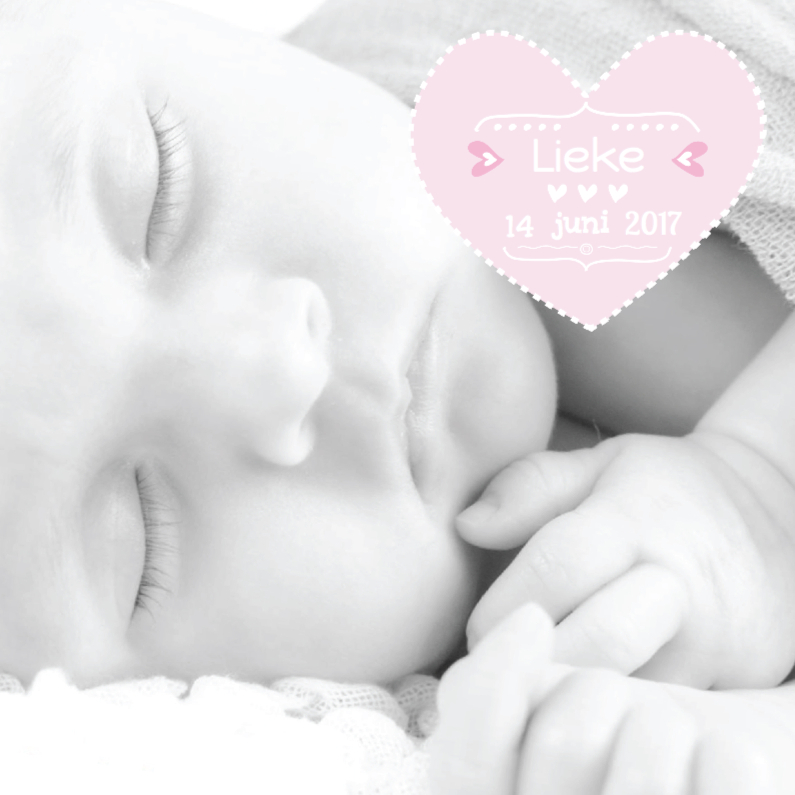 Geboortekaartjes - Geboortekaartje Foto Lieke