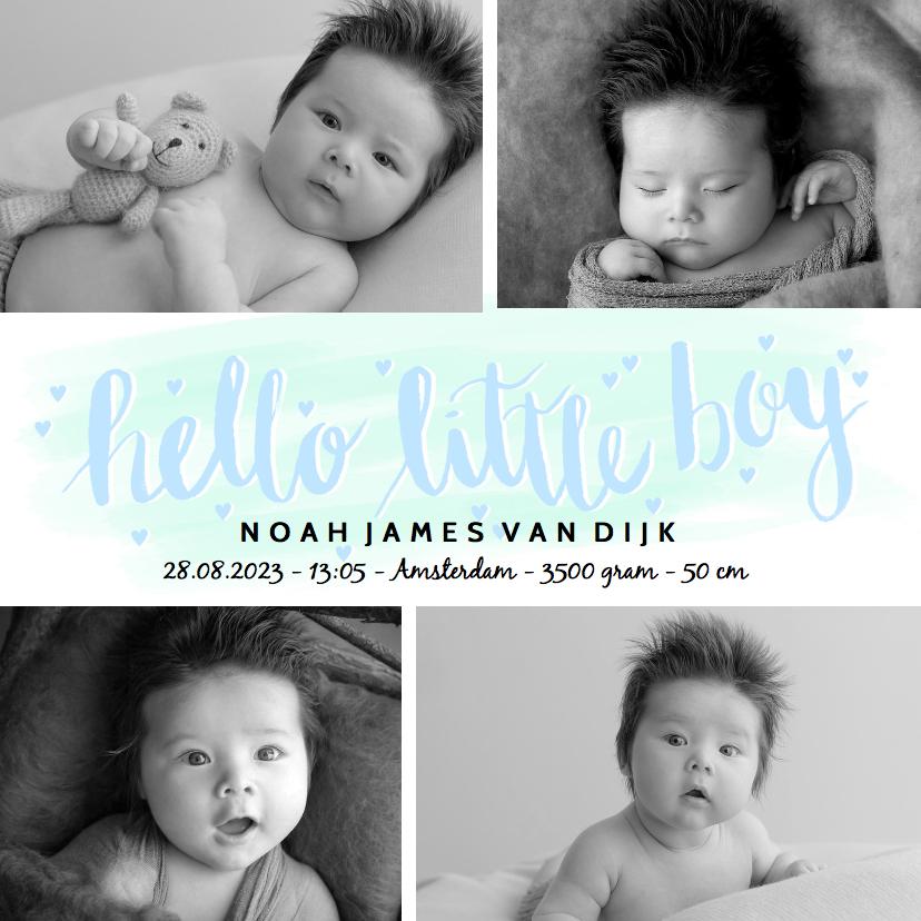 Geboortekaartjes - Geboortekaartje foto's hip boy