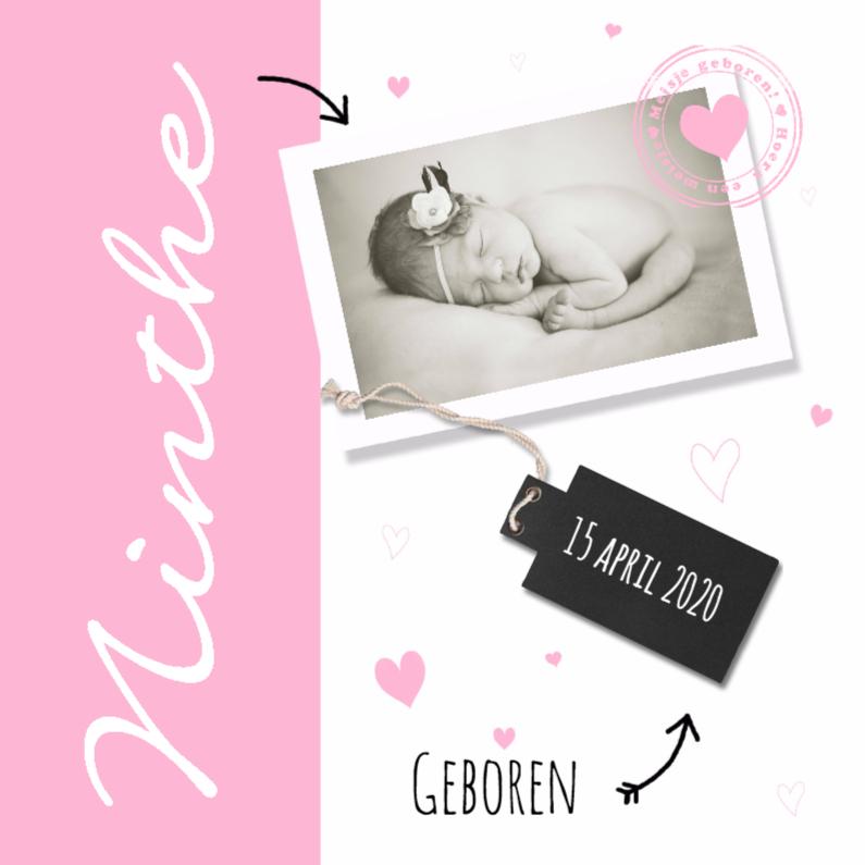 Geboortekaartjes - geboortekaartje foto stempel