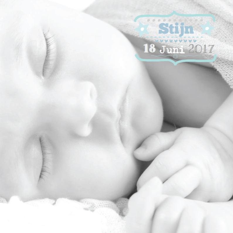 Geboortekaartjes - Geboortekaartje Foto Stijn