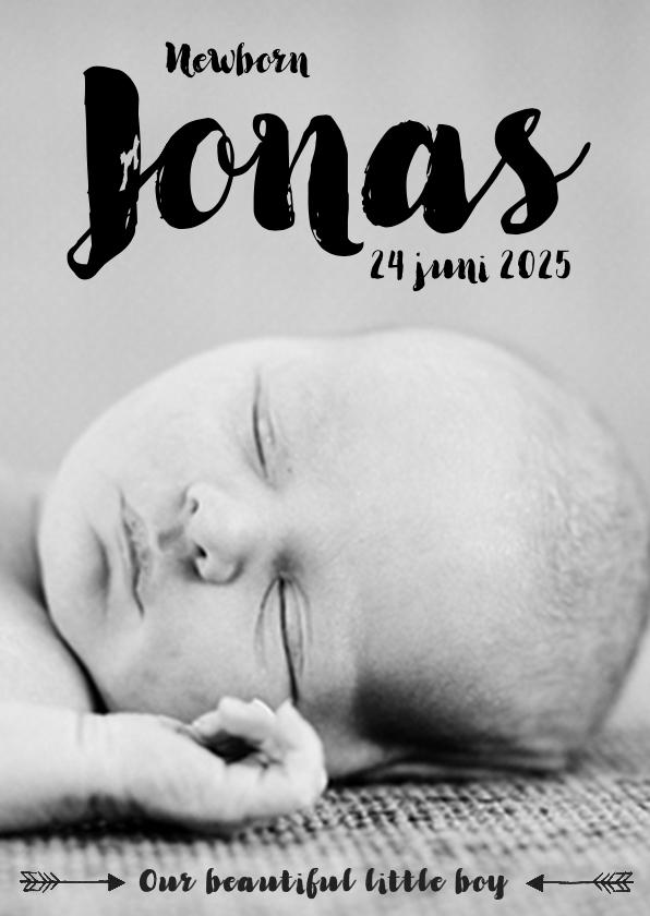 Geboortekaartjes - Geboortekaartje foto stoer