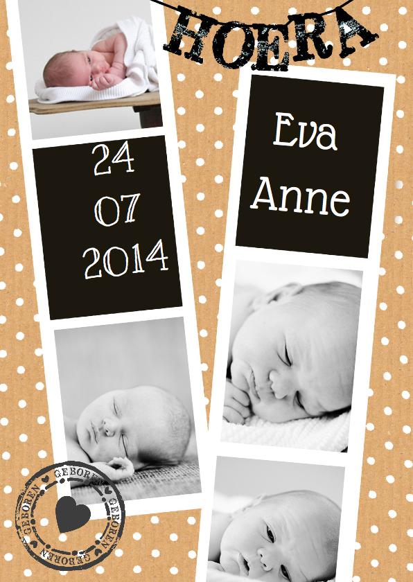Geboortekaartjes - Geboortekaartje foto strip stip