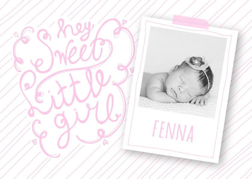 Geboortekaartjes - Geboortekaartje foto tekst hip