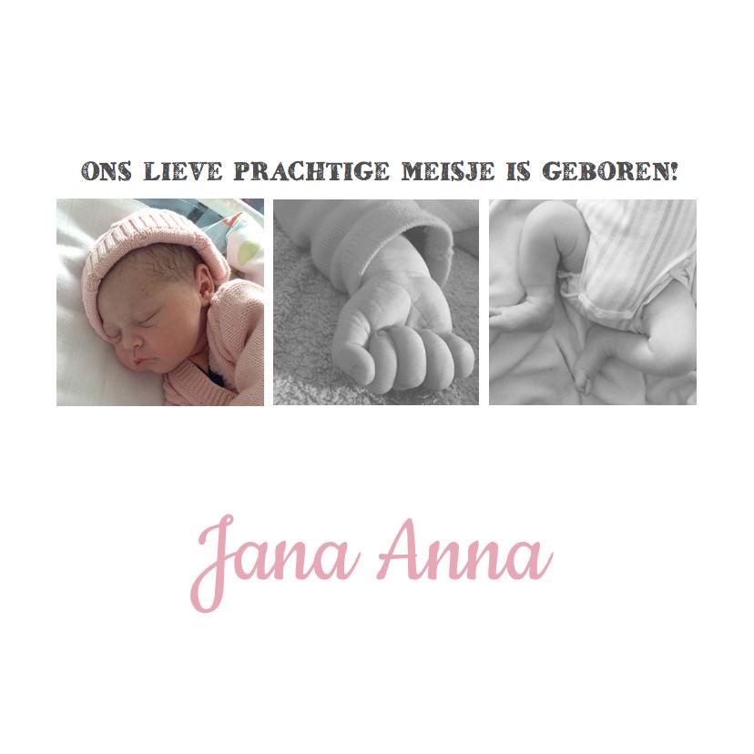 Geboortekaartjes - Geboortekaartje fotocollage hip
