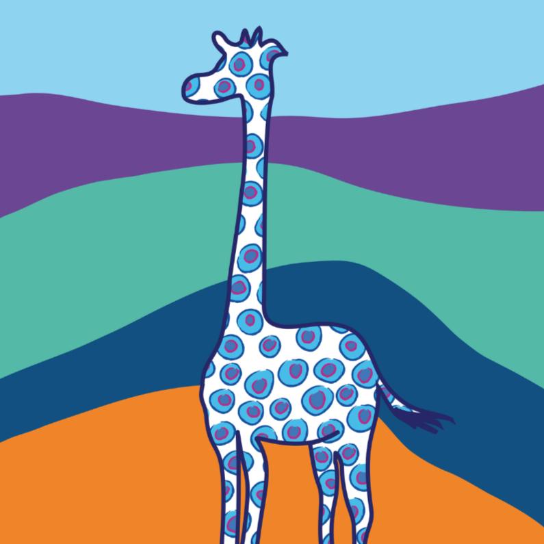 Geboortekaartjes - Geboortekaartje giraffe jongen