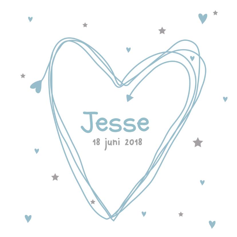 Geboortekaartjes - Geboortekaartje hart Jesse