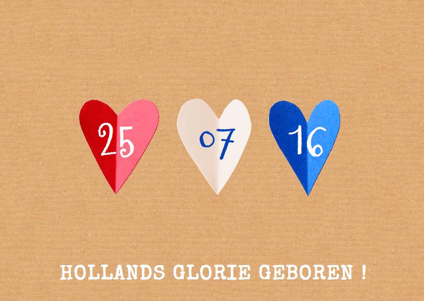 Geboortekaartjes - geboortekaartje hartjes Holland