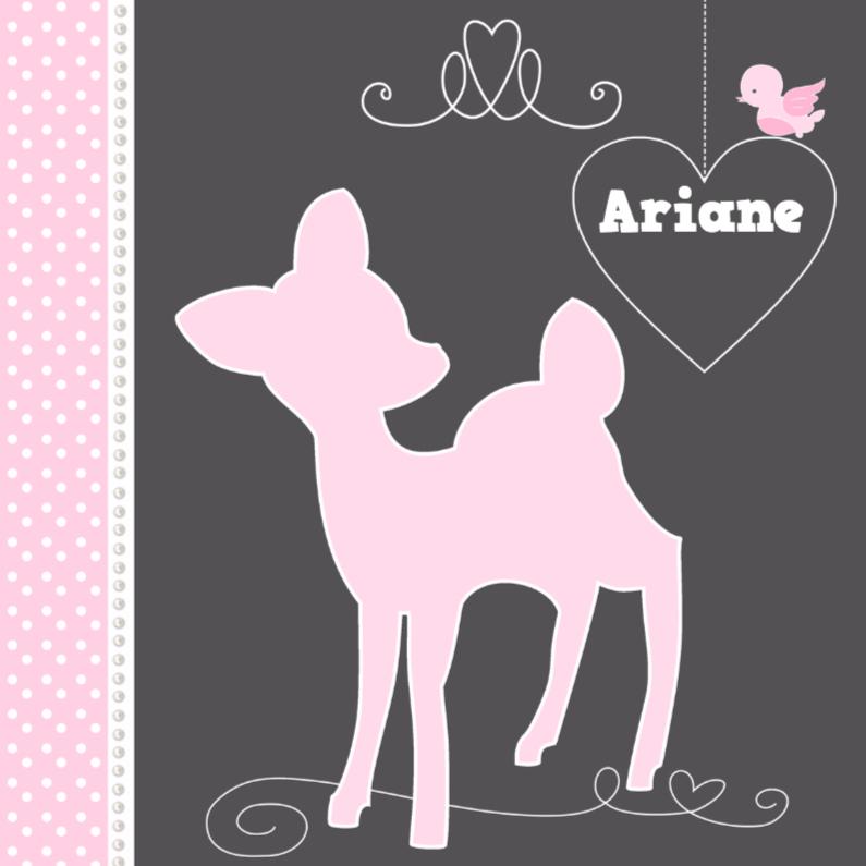 Geboortekaartjes - Geboortekaartje Hert