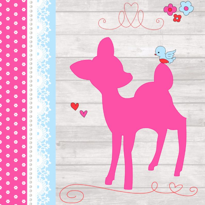 Geboortekaartjes - Geboortekaartje Hertje