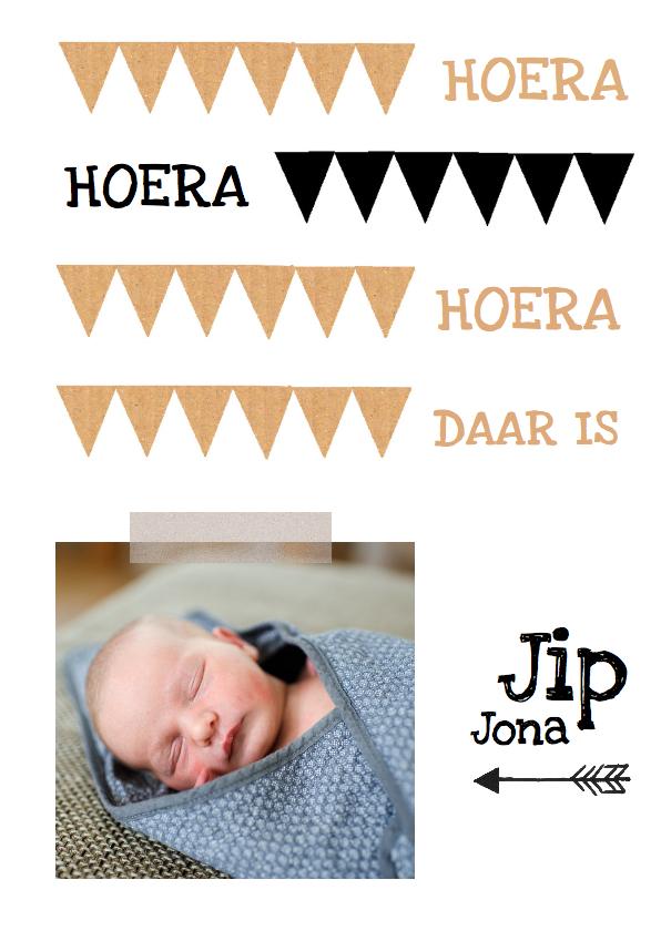 Geboortekaartjes - Geboortekaartje hip karton Jip