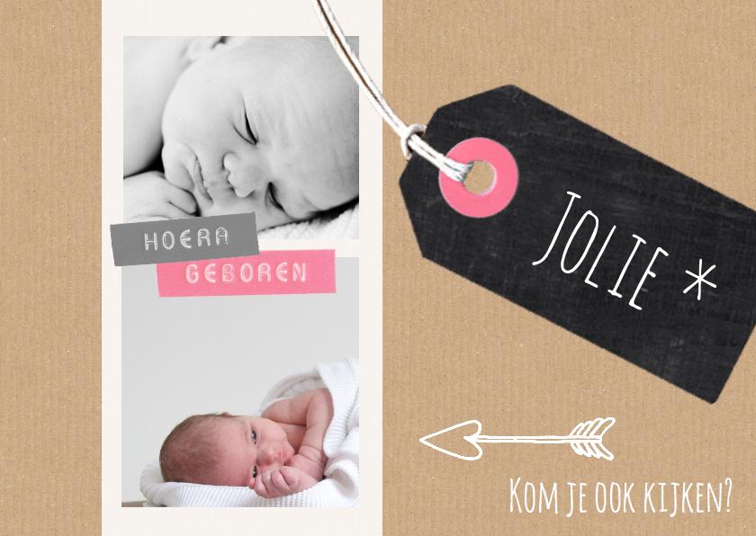 Geboortekaartjes - Geboortekaartje hip sterren girl