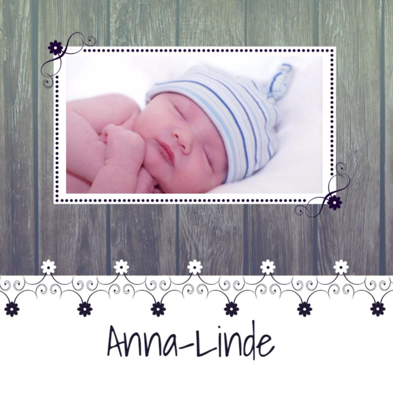 Geboortekaartjes - Geboortekaartje Hout/deco