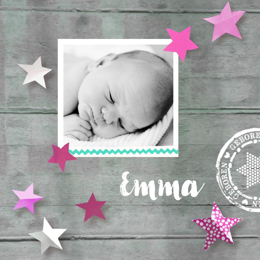 Geboortekaartjes - Geboortekaartje hout Emma