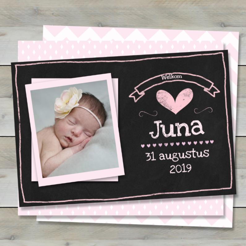 Geboortekaartjes - Geboortekaartje hout en krijt