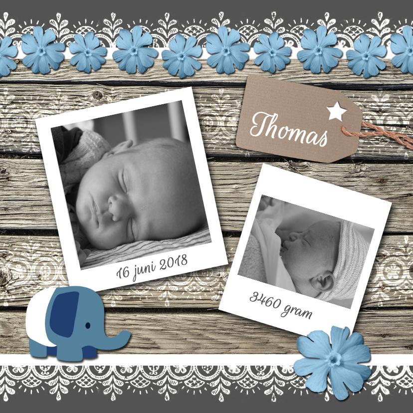 Geboortekaartjes - Geboortekaartje hout jongen-HR