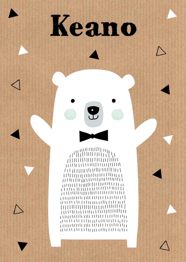 Geboortekaartjes - Geboortekaartje ijsbeer kraft jongen