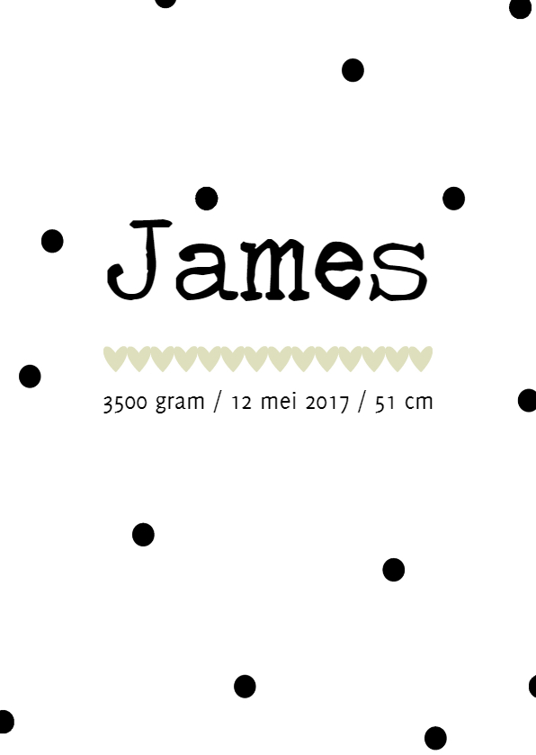 Geboortekaartjes - Geboortekaartje James - HM