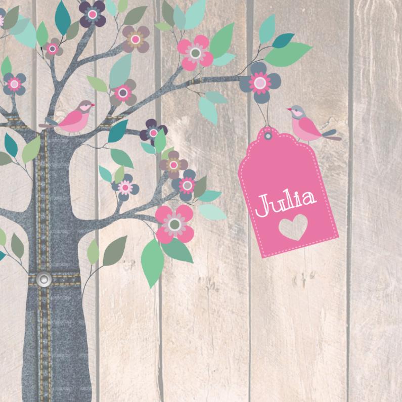 Geboortekaartjes - Geboortekaartje Jeansboom Julia