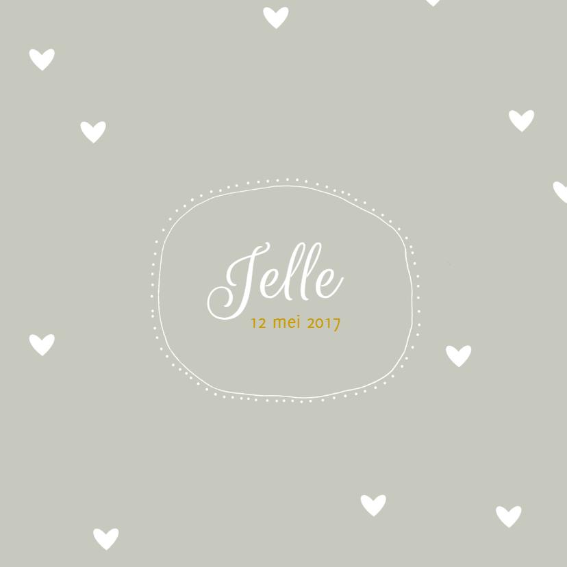 Geboortekaartjes - Geboortekaartje Jelle - HM