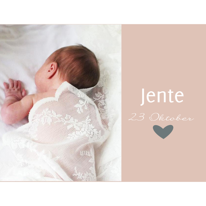 Geboortekaartjes - Geboortekaartje Jente
