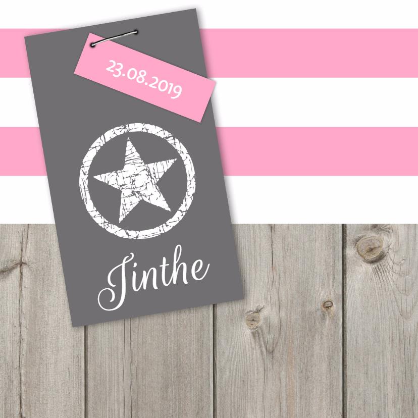 Geboortekaartjes - Geboortekaartje Jinthe LS