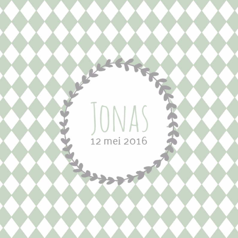 Geboortekaartjes - Geboortekaartje Jonas groen