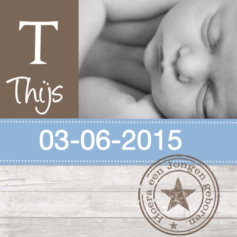Geboortekaartjes - Geboortekaartje Jongen 1 Pimp Studio