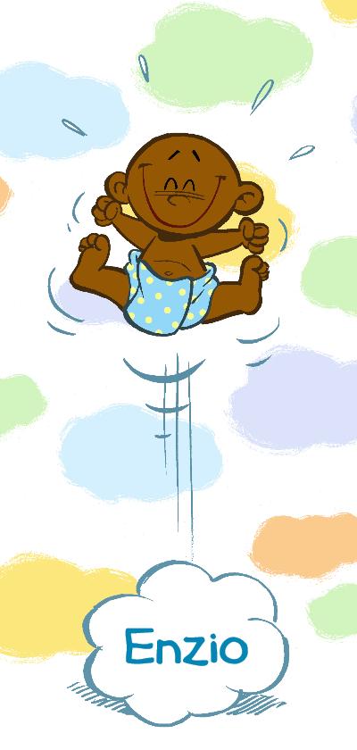 Geboortekaartjes - Geboortekaartje jongen 2 - in de wolken - A