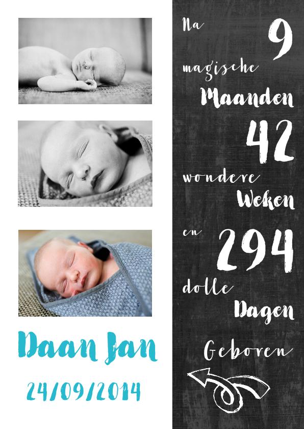 Geboortekaartjes - Geboortekaartje jongen foto's