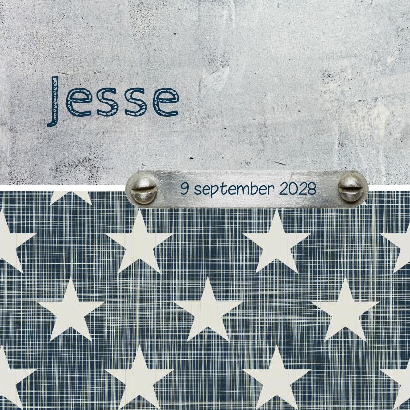 Geboortekaartjes - Geboortekaartje jongen Jesse