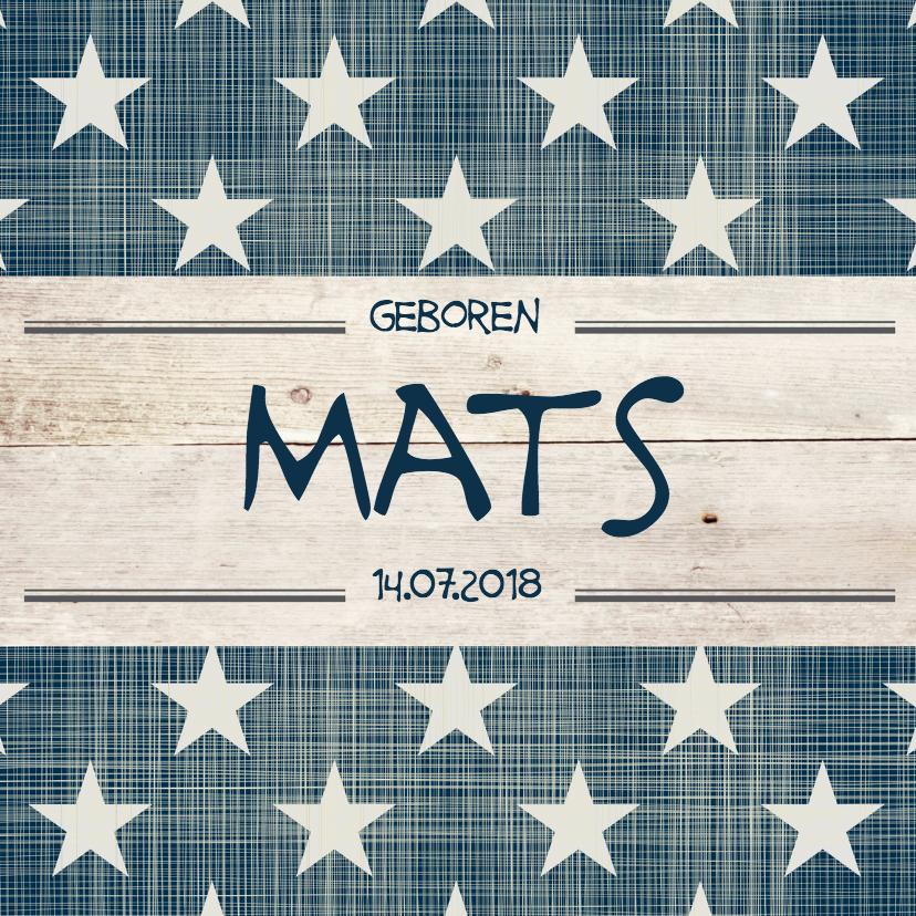Geboortekaartjes - Geboortekaartje jongen Mats