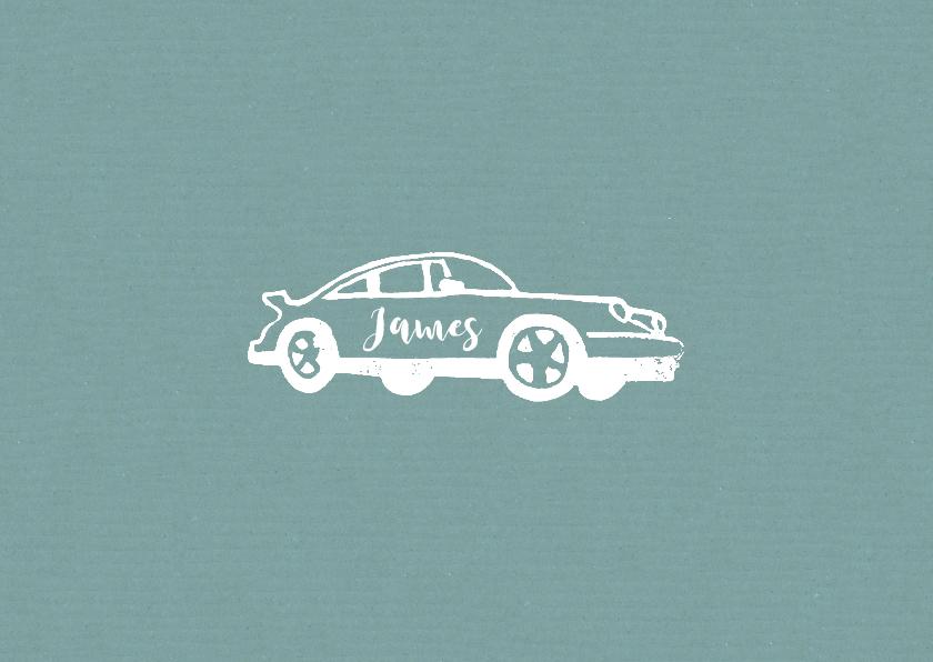 Geboortekaartjes - Geboortekaartje jongen porsche auto