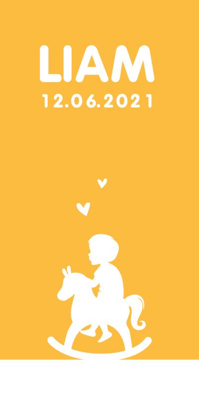 Geboortekaartjes - Geboortekaartje jongen simpel met silhouet