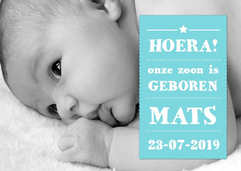 Geboortekaartjes - Geboortekaartje Jongen Tekst