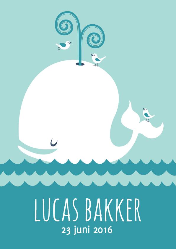 Geboortekaartjes - Geboortekaartje jongen walvis