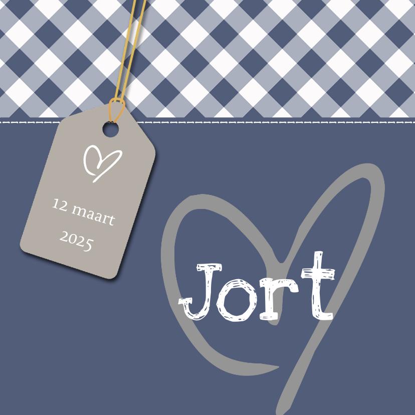 Geboortekaartjes - Geboortekaartje Jort hart