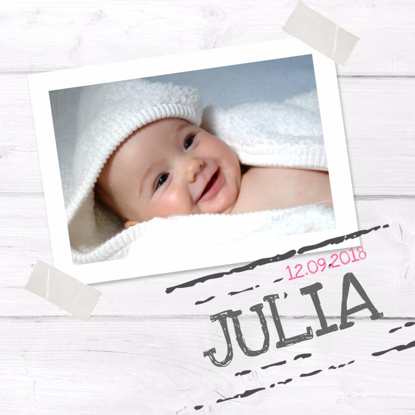 Geboortekaartjes - Geboortekaartje Julia foto SS
