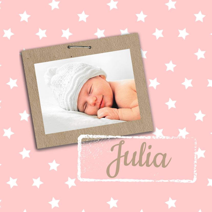 Geboortekaartjes - Geboortekaartje Julia sterren