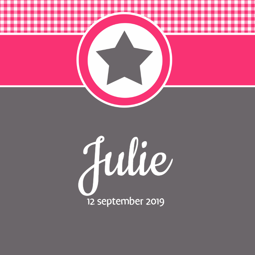 Geboortekaartjes - Geboortekaartje Julie LW