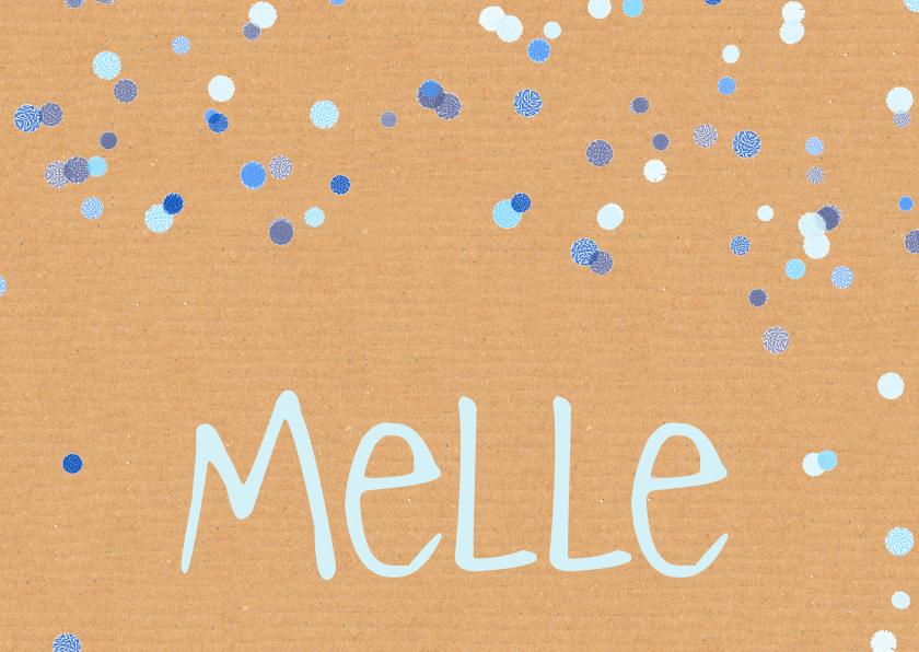 Geboortekaartjes - Geboortekaartje karton confetti
