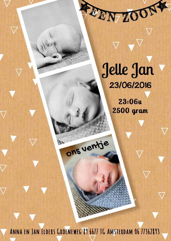Geboortekaartjes - geboortekaartje karton jongen