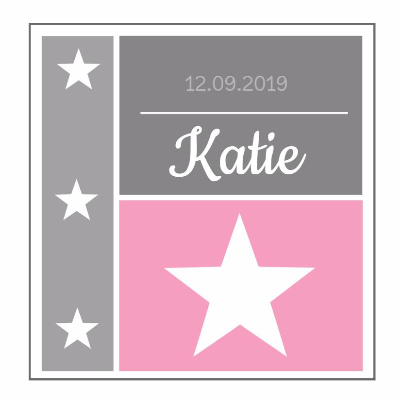Geboortekaartjes - Geboortekaartje Katie LS