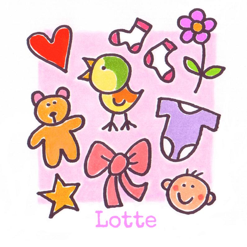 Geboortekaartjes - geboortekaartje kleine motieven