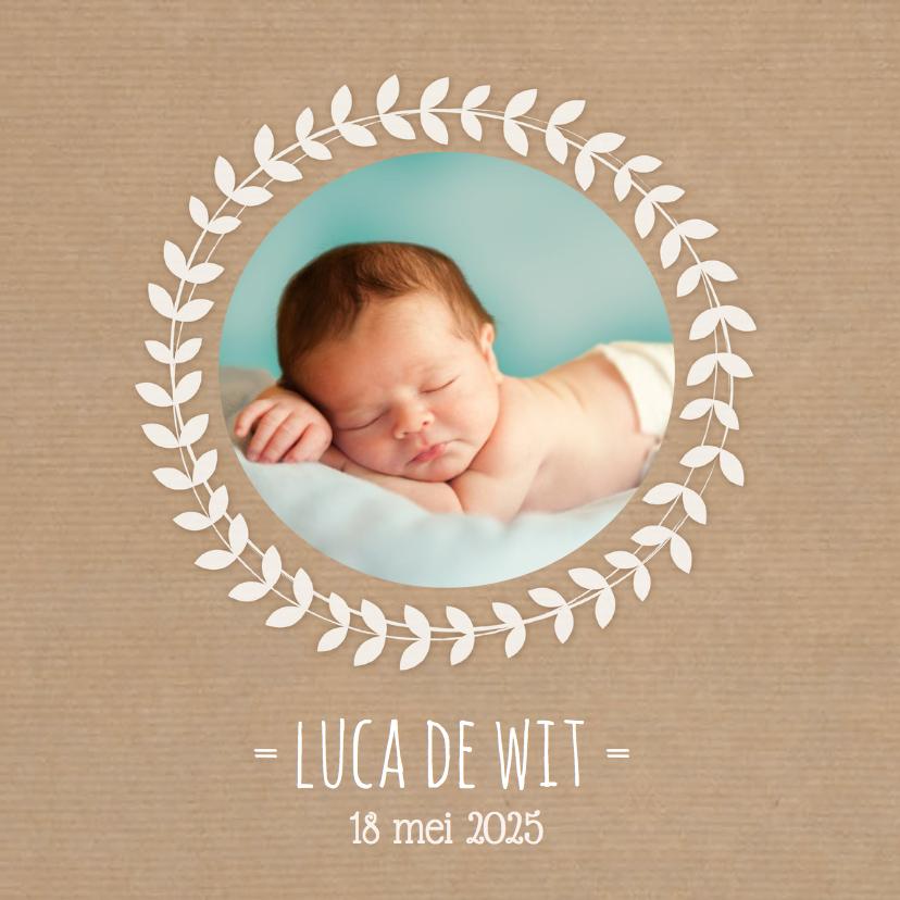 Geboortekaartjes - Geboortekaartje Kraft Krans foto