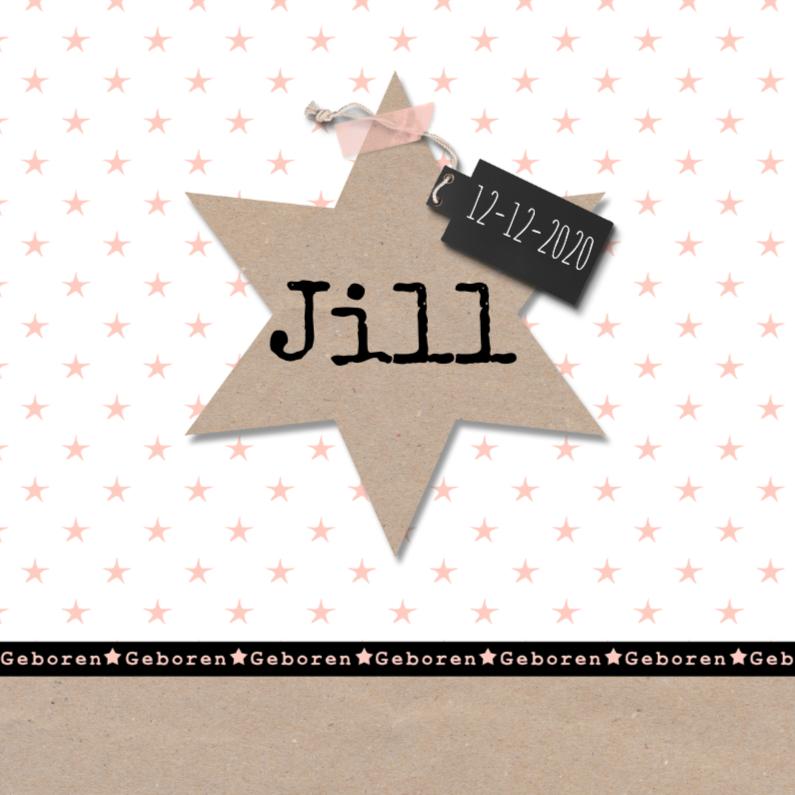 Geboortekaartjes - Geboortekaartje kraft sterren