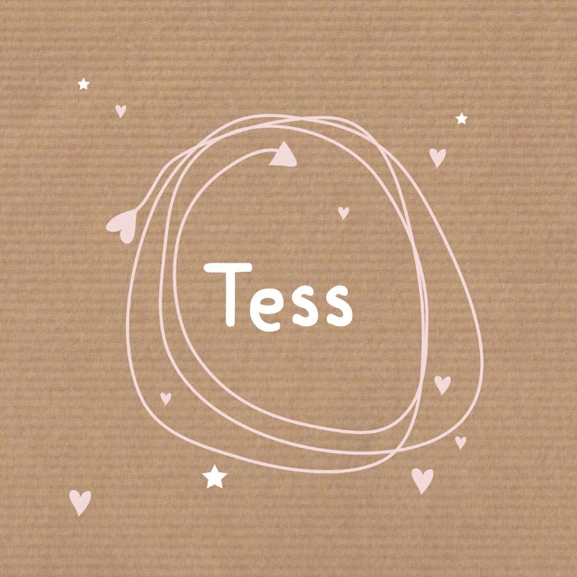 Geboortekaartjes - Geboortekaartje kraft Tess