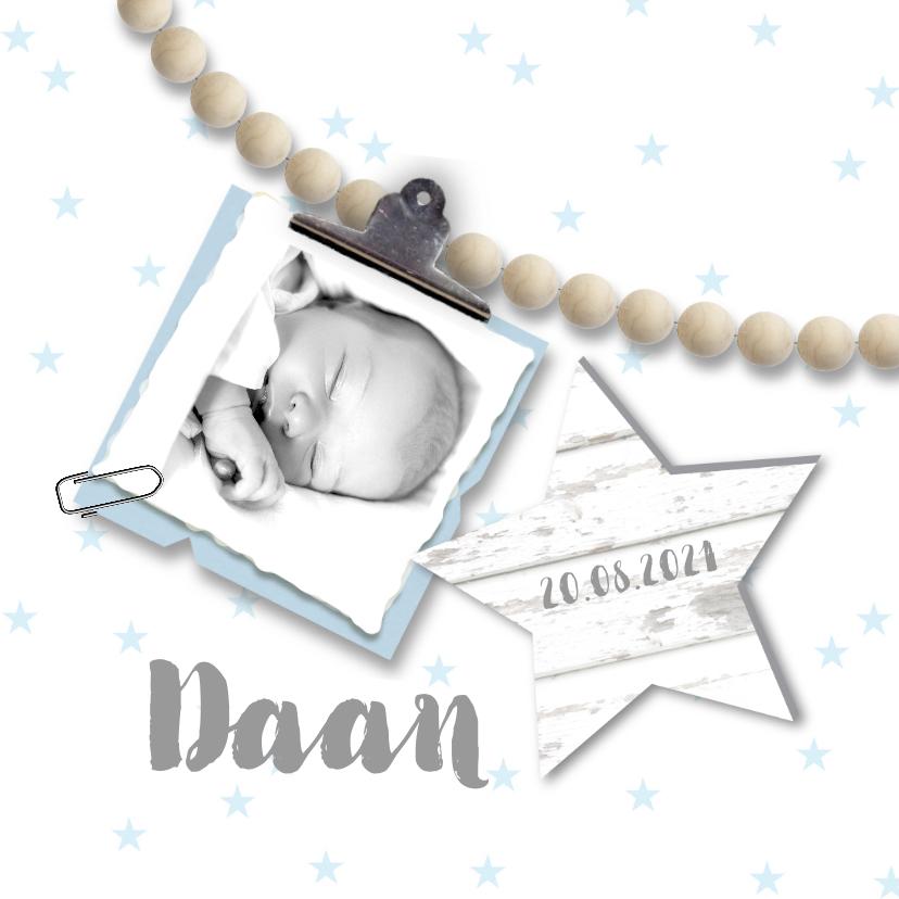 Geboortekaartjes - Geboortekaartje kralen jongen