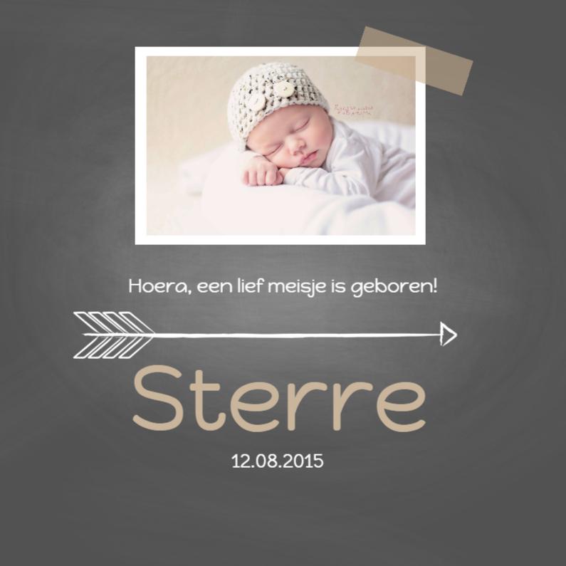 Geboortekaartjes - Geboortekaartje krijt sterre