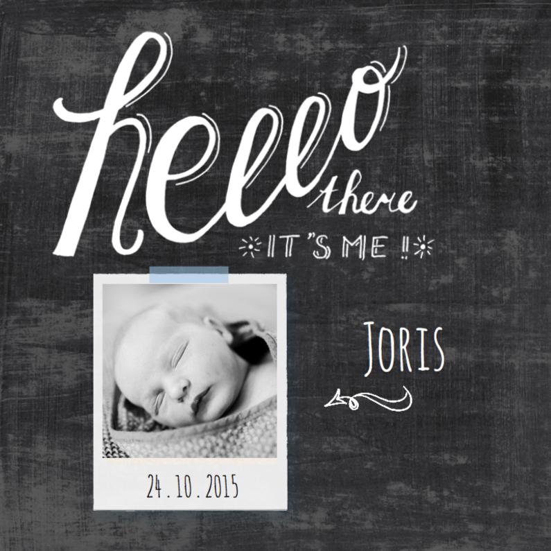 Geboortekaartjes - Geboortekaartje krijtbord Hello