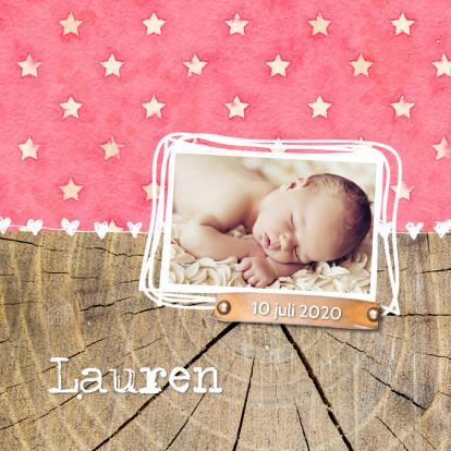Geboortekaartjes - Geboortekaartje Lauren Sterren